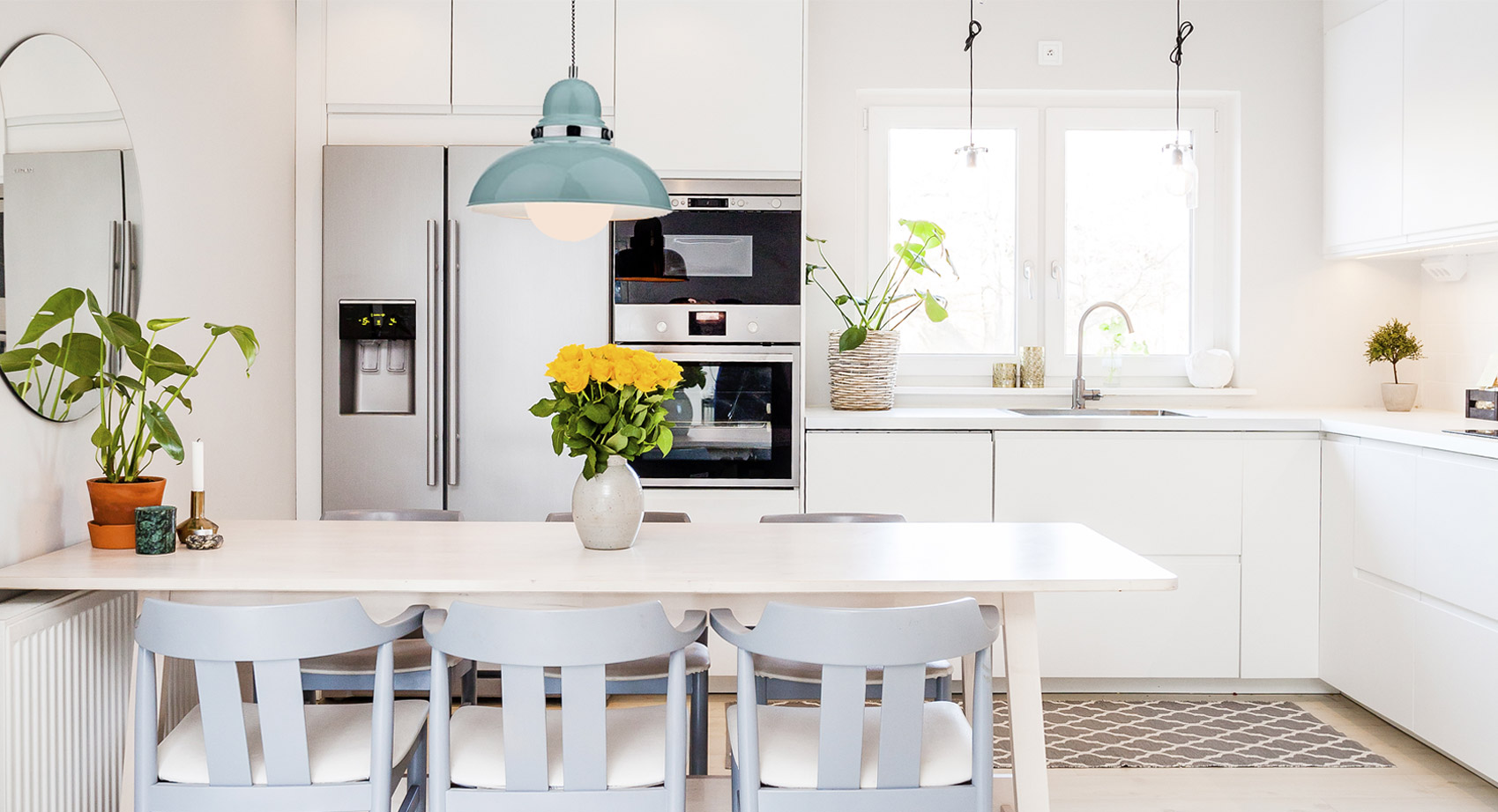 Pendant Light in a kitchen